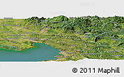 Satellite Panoramic Map of Komen