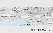 Silver Style Panoramic Map of Komen