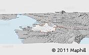 Gray Panoramic Map of Koper