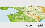 Physical Panoramic Map of Koper