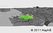 Political Panoramic Map of Koper, darken, desaturated