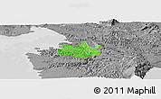 Political Panoramic Map of Koper, desaturated