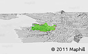 Political Panoramic Map of Koper, lighten, desaturated