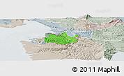 Political Panoramic Map of Koper, lighten, semi-desaturated