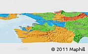 Political Panoramic Map of Koper