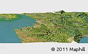 Satellite Panoramic Map of Koper
