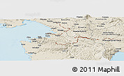 Shaded Relief Panoramic Map of Koper