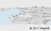 Silver Style Panoramic Map of Koper