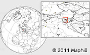 Blank Location Map of Kranj