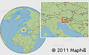Savanna Style Location Map of Kranj