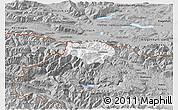 Gray 3D Map of Kranjska Gora
