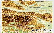 Physical 3D Map of Kranjska Gora