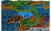 Political 3D Map of Kranjska Gora, darken