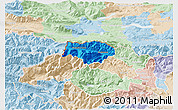 Political 3D Map of Kranjska Gora, lighten