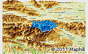 Political 3D Map of Kranjska Gora, physical outside