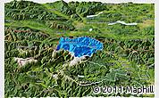 Political 3D Map of Kranjska Gora, satellite outside