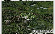 Satellite 3D Map of Kranjska Gora, darken