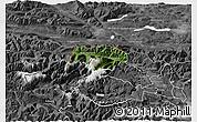 Satellite 3D Map of Kranjska Gora, desaturated