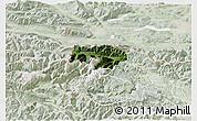 Satellite 3D Map of Kranjska Gora, lighten