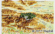 Satellite 3D Map of Kranjska Gora, physical outside