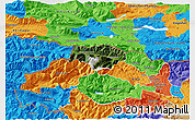 Satellite 3D Map of Kranjska Gora, political outside