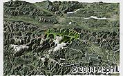 Satellite 3D Map of Kranjska Gora, semi-desaturated