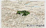 Satellite 3D Map of Kranjska Gora, shaded relief outside