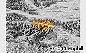 Physical Map of Kranjska Gora, desaturated