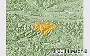 Savanna Style Map of Kranjska Gora