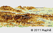 Physical Panoramic Map of Kranjska Gora