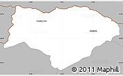Gray Simple Map of Kranjska Gora