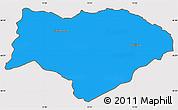 Political Simple Map of Kranjska Gora, cropped outside