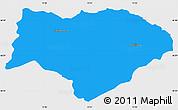 Political Simple Map of Kranjska Gora, single color outside