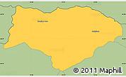 Savanna Style Simple Map of Kranjska Gora
