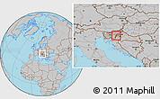 Gray Location Map of Krsko
