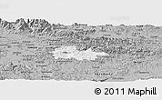 Gray Panoramic Map of Litija