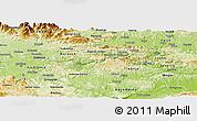 Physical Panoramic Map of Litija