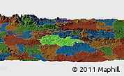Political Panoramic Map of Litija, darken