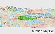 Political Panoramic Map of Litija, lighten
