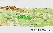 Political Panoramic Map of Litija, physical outside