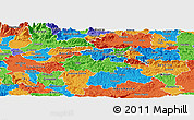 Political Panoramic Map of Litija
