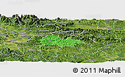 Political Panoramic Map of Litija, satellite outside