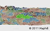 Political Panoramic Map of Litija, semi-desaturated