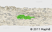 Political Panoramic Map of Litija, shaded relief outside