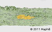 Savanna Style Panoramic Map of Litija