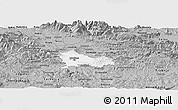 Gray Panoramic Map of Ljubljana