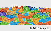 Political Panoramic Map of Ljubljana
