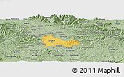 Savanna Style Panoramic Map of Ljubljana
