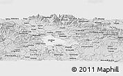 Silver Style Panoramic Map of Ljubljana