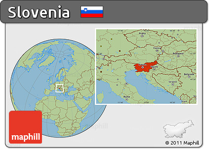 Savanna Style Location Map of Slovenia